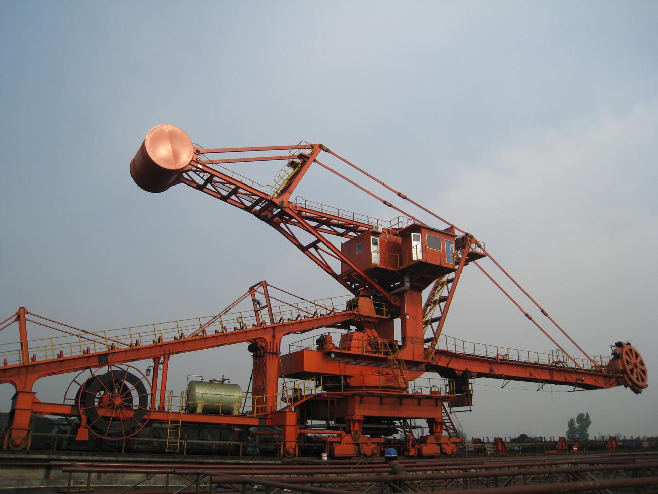 现场使用中DQL650.650斗轮堆取料